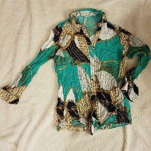 Grand & Greene Printed long sleeves top size M